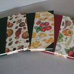 Ricettari con dorso in tela e carta con soggetti differenti