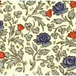 cod. 201 fiori blu e rossi