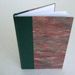 Legatura fogli singoli, in mezza pelle e carta marmorizzata