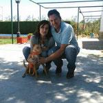 LEO, adoptado en Arahal (Sevilla).