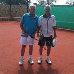 Bruce mit Jorge Paulo Leeman (spielten miteinander 1962 für die Schweiz Davis-Cup!)