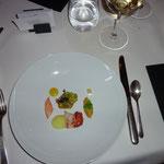 Bretonischer Hummer - Curry: Schaum - Avocado: Crème - Cous Cous-Yuzu
