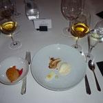 Zitrusfrüchte: Kuchen, Konfit - Mascarponecrème - Sauerrahmreis - Karamel-Erdnuss