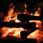 A campfire at Tenkawa river