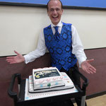 Martin and the Birthday cake.