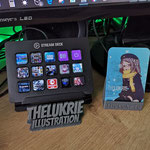 Elgato StreamDeck (Macro Keyboard) + business card holder