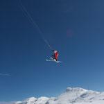 Snowkiting, Vorab Gletscher