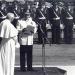 Cile 1984 - Pinochet e papa wojtyla- fotografia di Gian Butturini