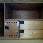 Detalle escapes, cajón telemetria y cajones accesorios cetrero.