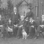 circa 1918 (Left to Right): Frederick, Lucy, F M Sergeant, Admiral Heffernan, Ellen, Charles, Cecil