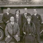 Back: Charles, Lucy, Frederick, Cecil. Front: F M Sergeant and Ellen Beatrice