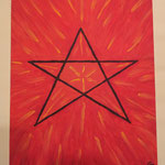 Pentagramm auf Malplatte 24x30