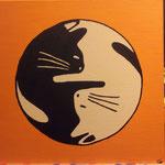 Yin Yang Katzen 40x40