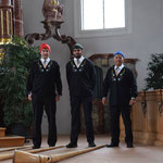 Trio Zipfelchappa vor dem Auftritt
