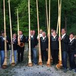 Die Alphorners am Bergfest