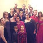 Avec l'équipe de l'Académie Lyrique, mars 2014
