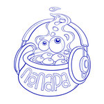 Popara - band mascot (line)