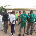 Outreach in the North: Sharing and praying with the players after the sports activities