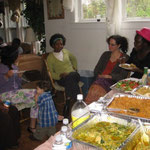 Samuel and Helen Ani had a party and fixed a feast of Nigerian food for everyone