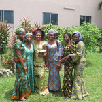 The DTS female students dressed in their beautiful native cloth