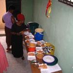 preparing the rice