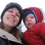 In the snow in New York with Elijah
