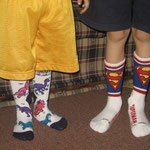 The boys got new socks. They'll probably only wear them when we go to Jos.