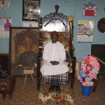 Uzomah's cousin is the traditional ruler of his village