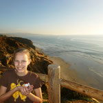 Watching the sunset at Torrey Pines State Park