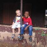 Elijah and Uzomah's son, Divine, like to play together