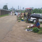 This is the side road outside of the YWAM gate.  There is a mini-market here on Tuesdays.
