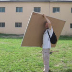 Transporting a white board from Port Harcourt to Aba