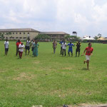 On the last day of class, we went to the football field to have some friendly competition.