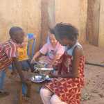 helping with lunch at YWAM-Jos