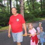 Walking with Grandpa on Long Island