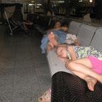 Sleeping overnight at the Abuja airport
