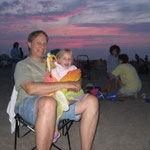 At the beach with Grandpa