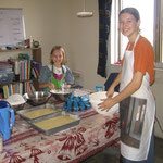 Hannah made 4 cakes for the YWAM community celebration on Christmas Eve