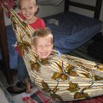 Caleb's temporary hammock