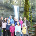 With the Lees at Silver Falls State Park in Oregon