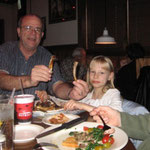 Eating at the Outback with Pastor Rich and Esther