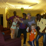 Eric, Elijah, & Caleb with the boys from the Abuja YWAM DTS outreach