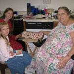 Baking cookies with Grandma June