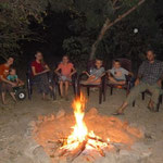 During the cool weather, we had a bon fire one night on our compound. We roasted marshmallows and had Smores.