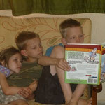 Elijah likes to read to his siblings