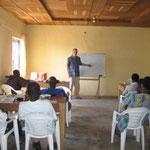 Eric teaching in Kaduna, Nigeria