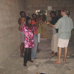 Outreach in the North: Eric, Cindy, & Hannah tought the team an evangelistic drama