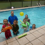 Swimming at Ann DiSanz's house in Florida