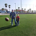 playing football at the YWAM campus in Tijuana