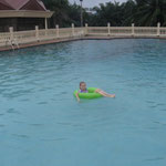 At the pool in Aba
